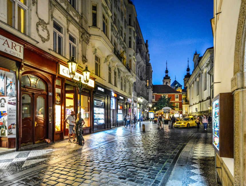 winkelen in Praag