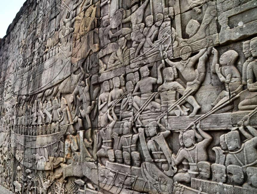 muurtekeningen angkor wat