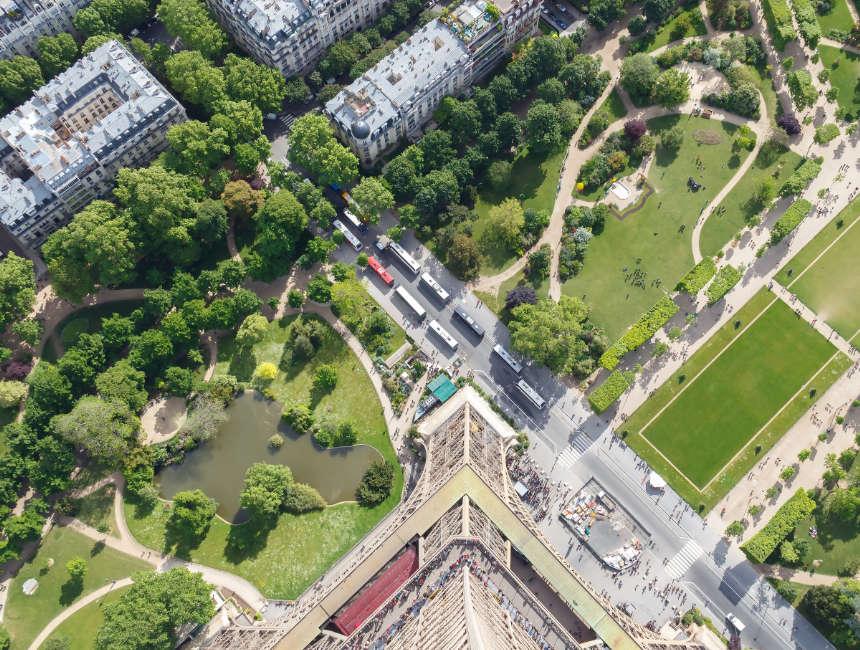 Toegang Eiffeltoren Parijs uitzicht