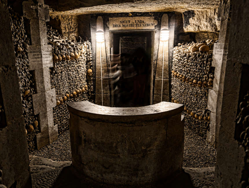 Catacomben Parijs ingang