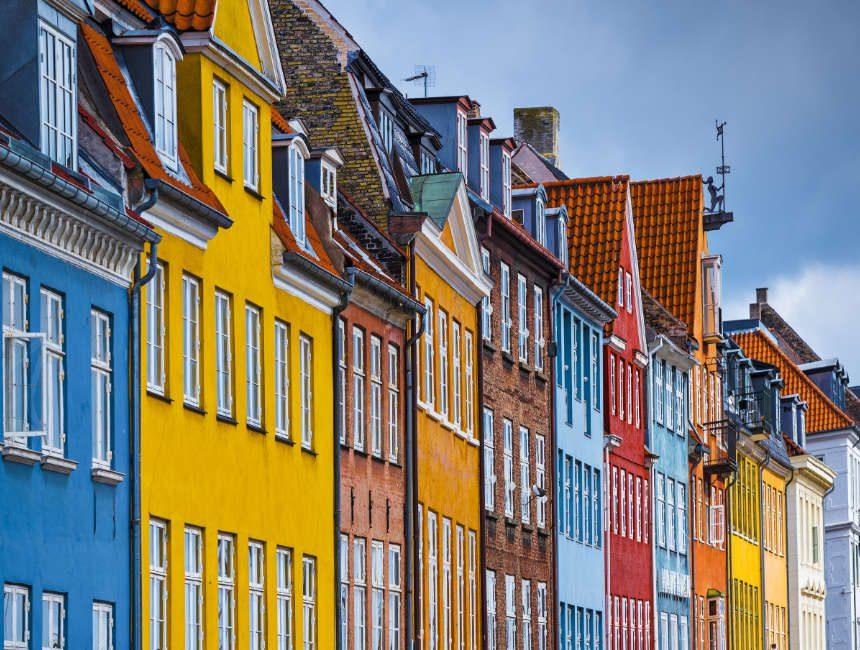 kleurrijke huisjes Nyhavn