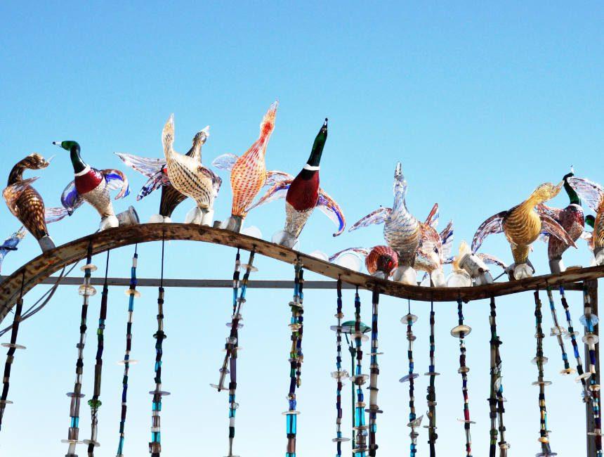 Glazen vogels in Murano