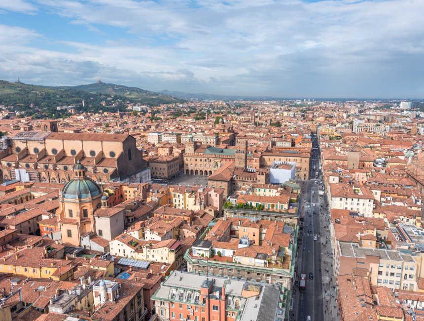 uitzicht Bologna toren