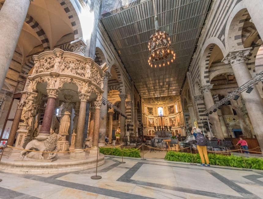 duomo santa maria pisa kathedraal binnen