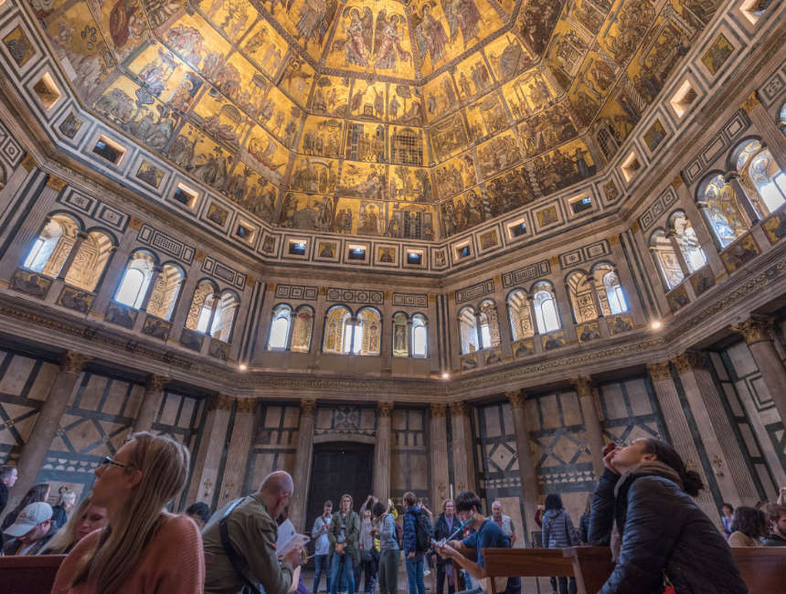 binnenkant baptisterium florence