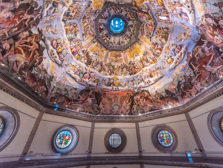 brunelleschi koepel florence kathedraal binnen