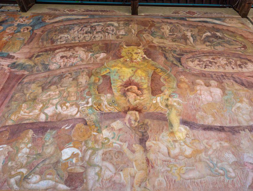 camposanto pisa muurschildering duivel