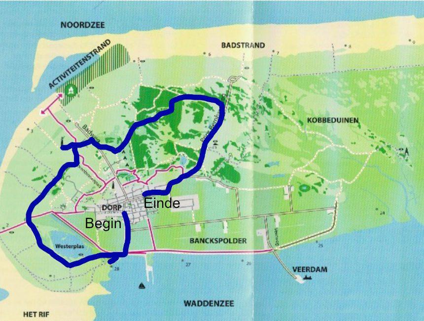 fietsroute schiermonnikoog
