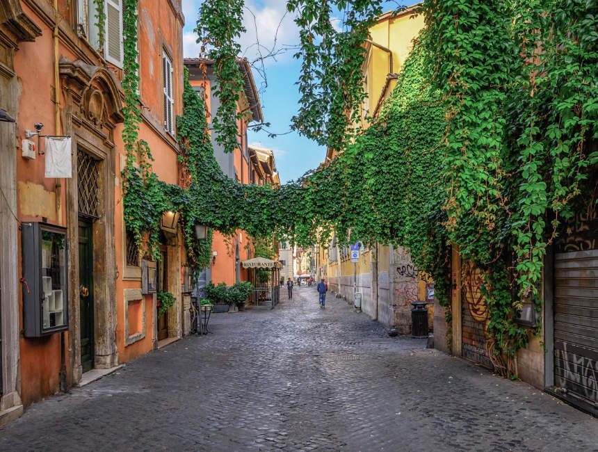 Trastevere Rome buurten