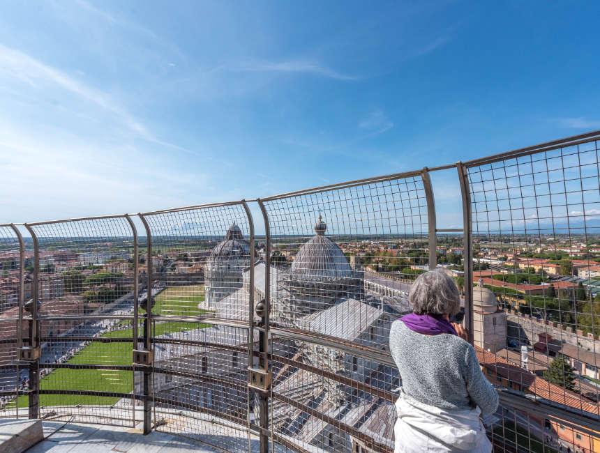 Uitzicht toren van Pisa