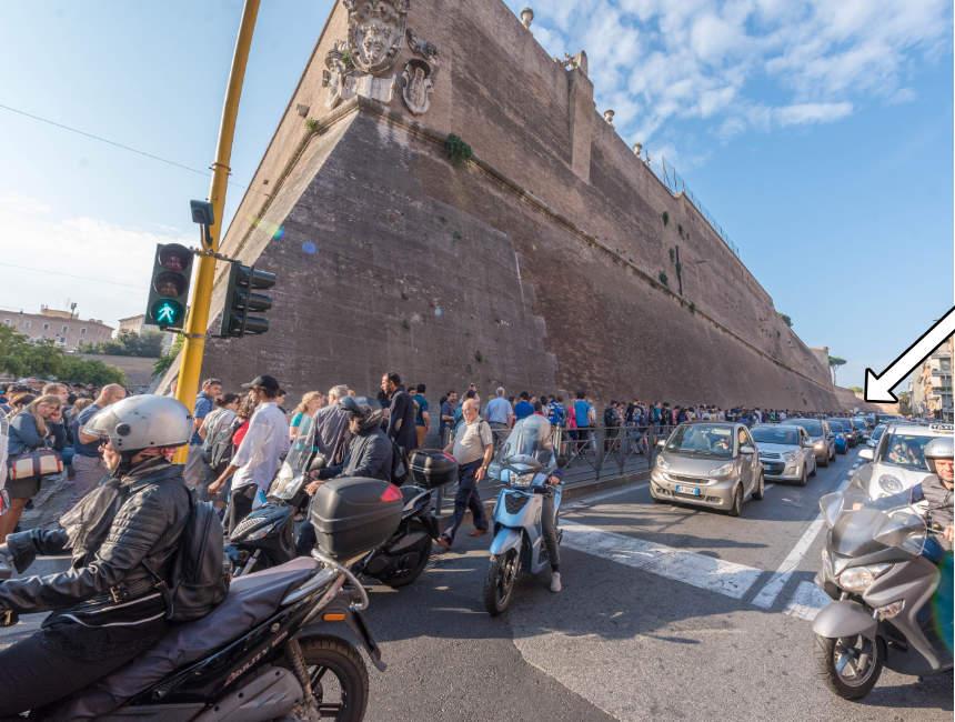 wachtrij vaticaanse musea