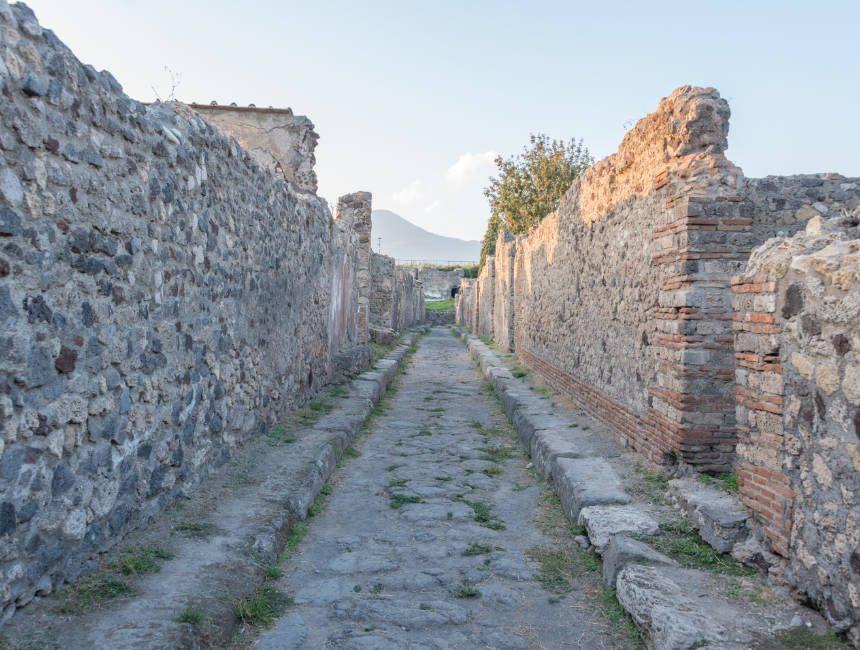archeologische site pompei kasseien straten