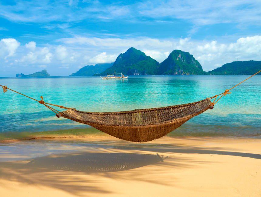 hangmat strand solo reiziger