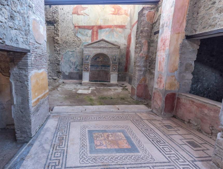 huizen en winkels pompeï