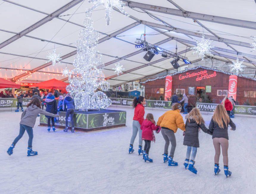 kerstmarkt luik schaatsen