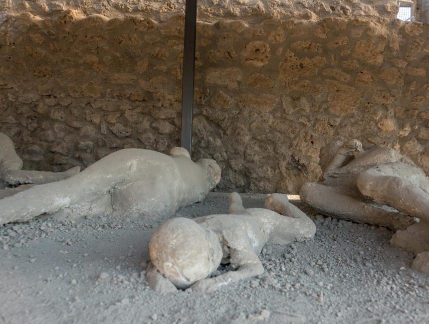 lichamen pompeii uitbarsting vesuvius