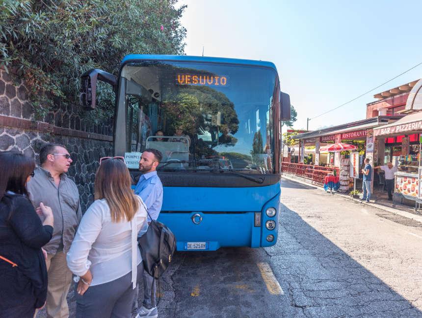 pompeii naar versuvius bus