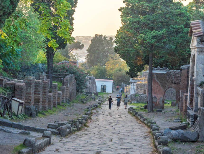 pompeii zonsondergang