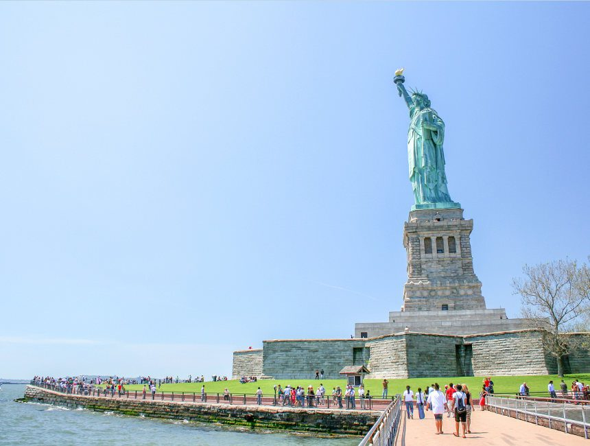 bezoek aan het vrijheidsbeeld