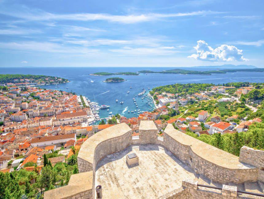 hvar kroatie uitzicht