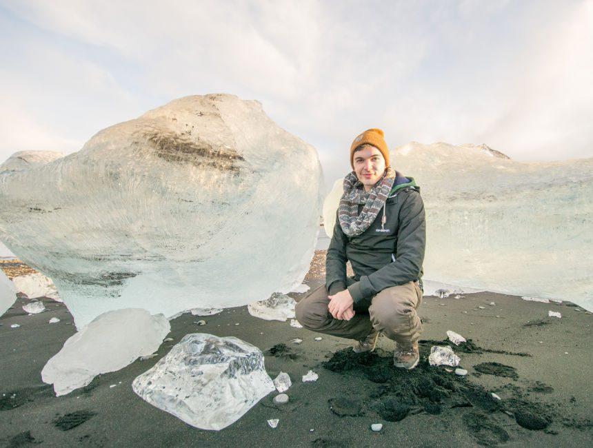 ijsschotsen jokulsarlon gletsjermeer ijsland