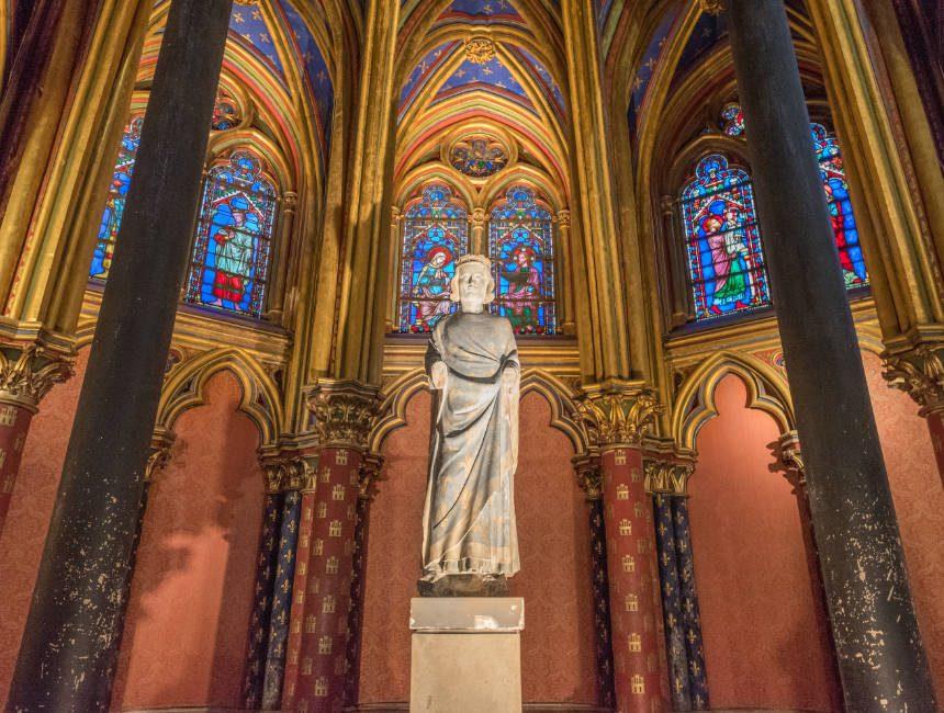 sainte chapelle eerste verdieping