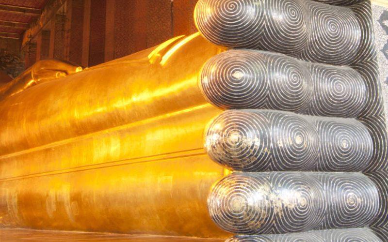 Wat Pho liggende Boeddha bangkok