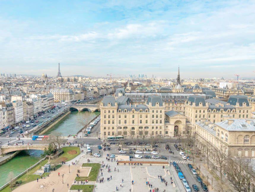 uitzicht Notre-dame parijs