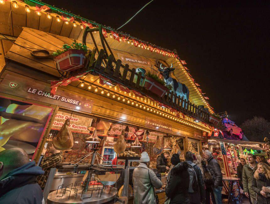kerstmarkt hasselt eten raclette