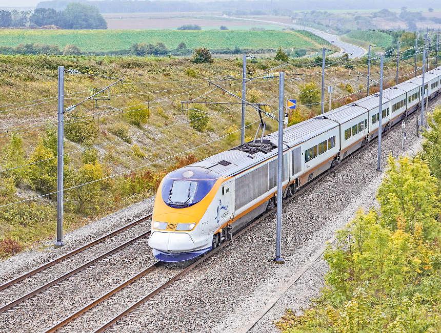 eurostar londen met trein