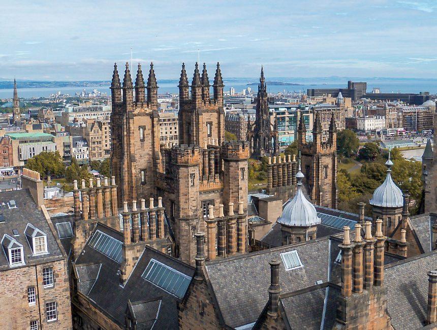 uitzicht edinburgh castle