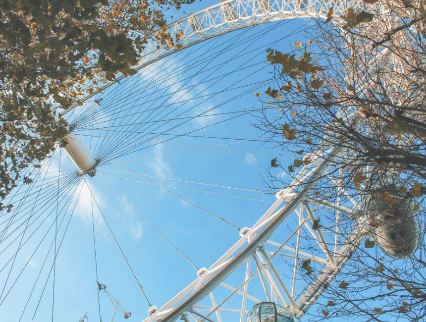 hoe hoog is de London Eye