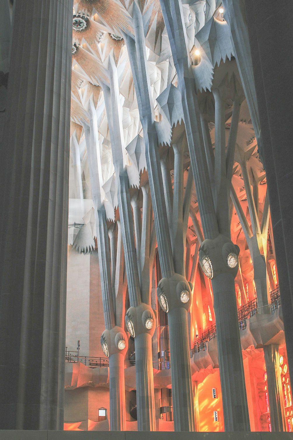binnenkant Sagrada Familia