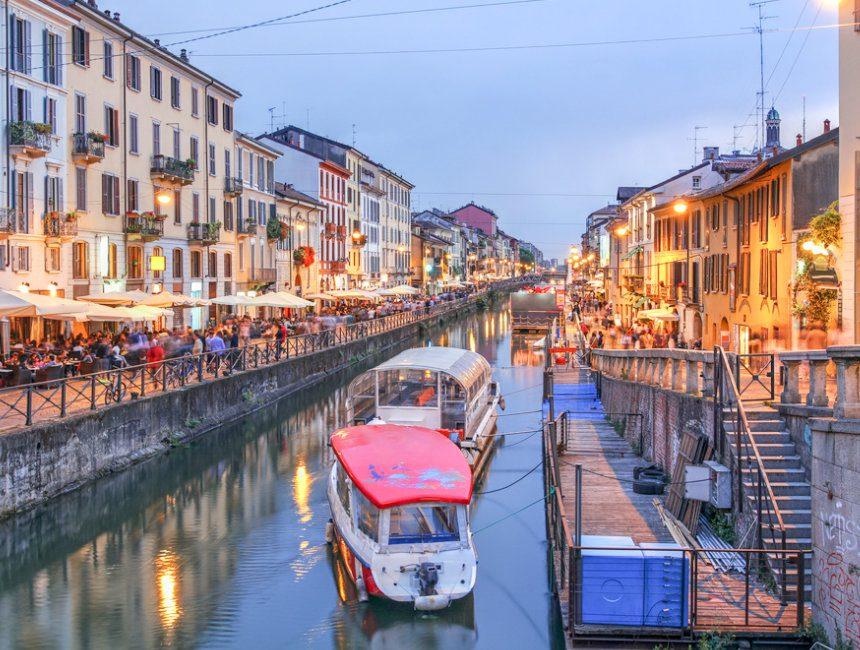 Navigli grachtenrondvaart Milaan