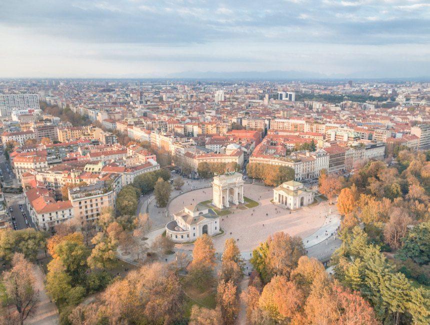 Torre Branca uitzicht Milaan
