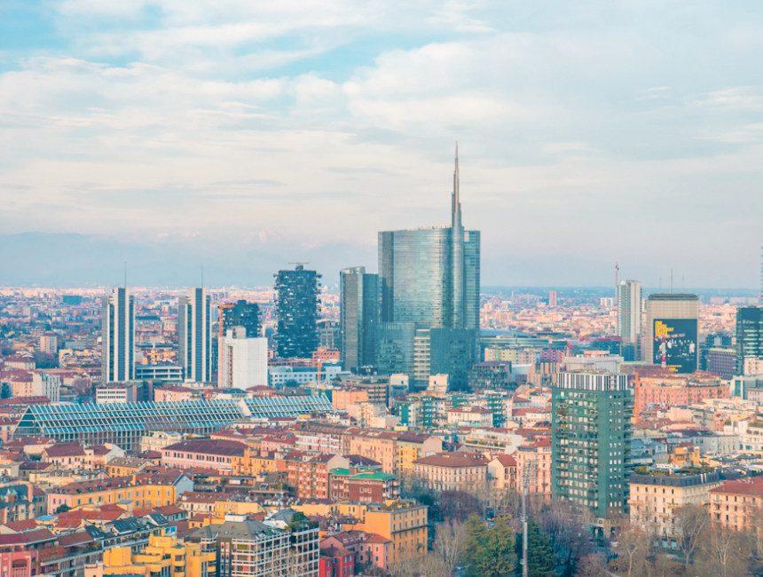 Torre Branca uitzicht nieuwe stad