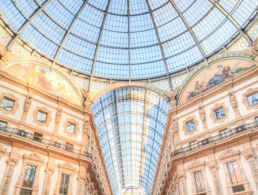 gouden vierhoek Milaan galleria Vittorio Emanuel II