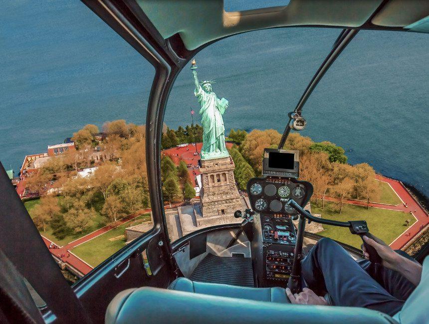 helikoptervlucht boven New York bezienswaardigheden