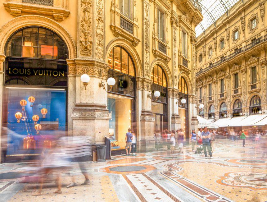 shoppen in Milaan