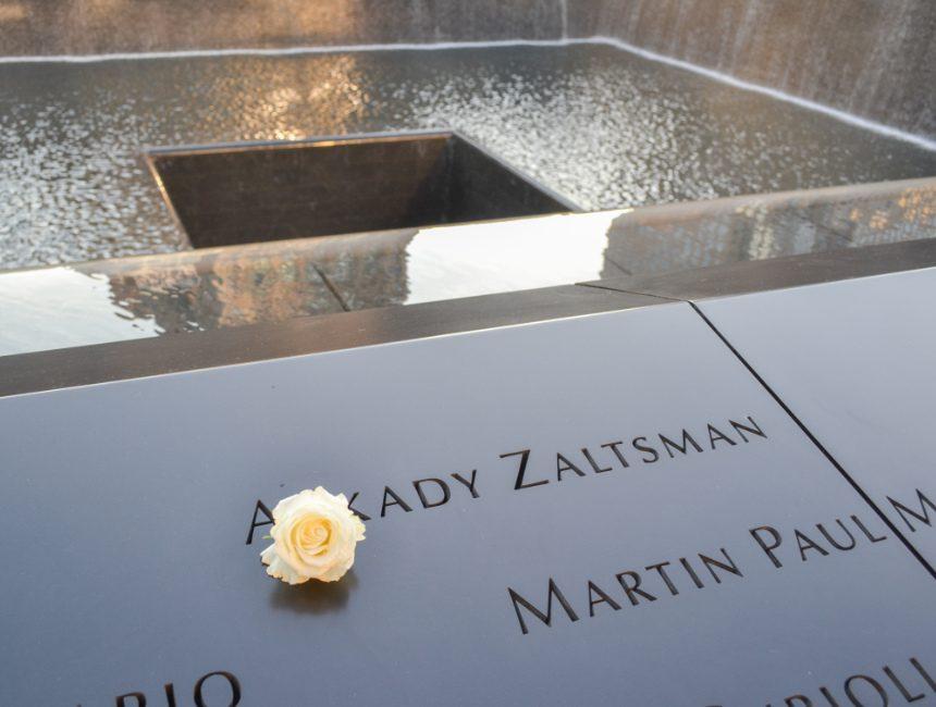 Witte roos 9/11 Memorial