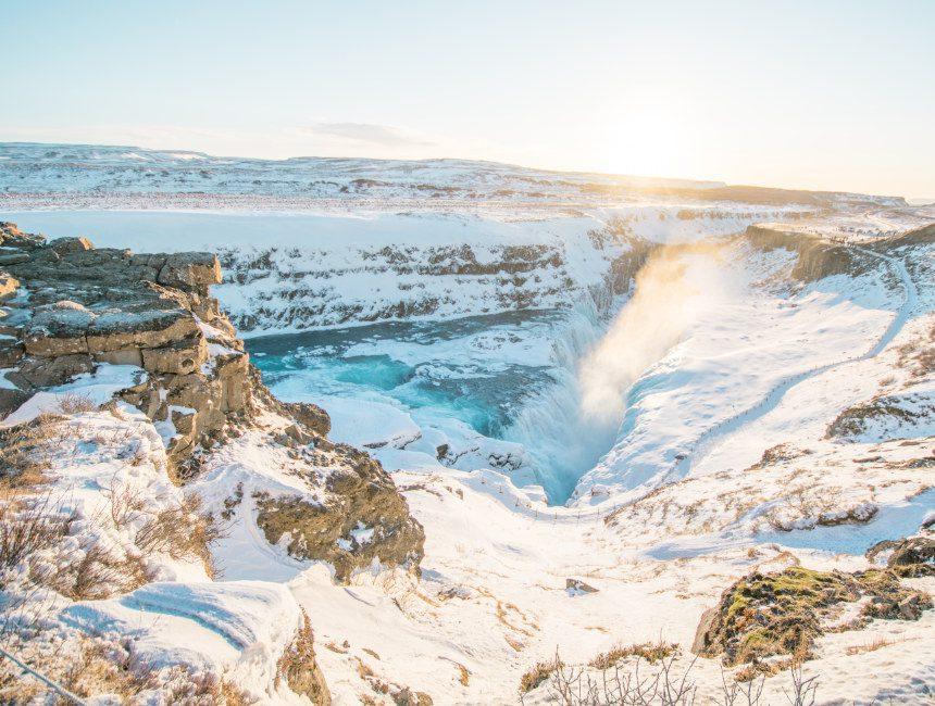 Gullfoss waterval rondreis IJsland