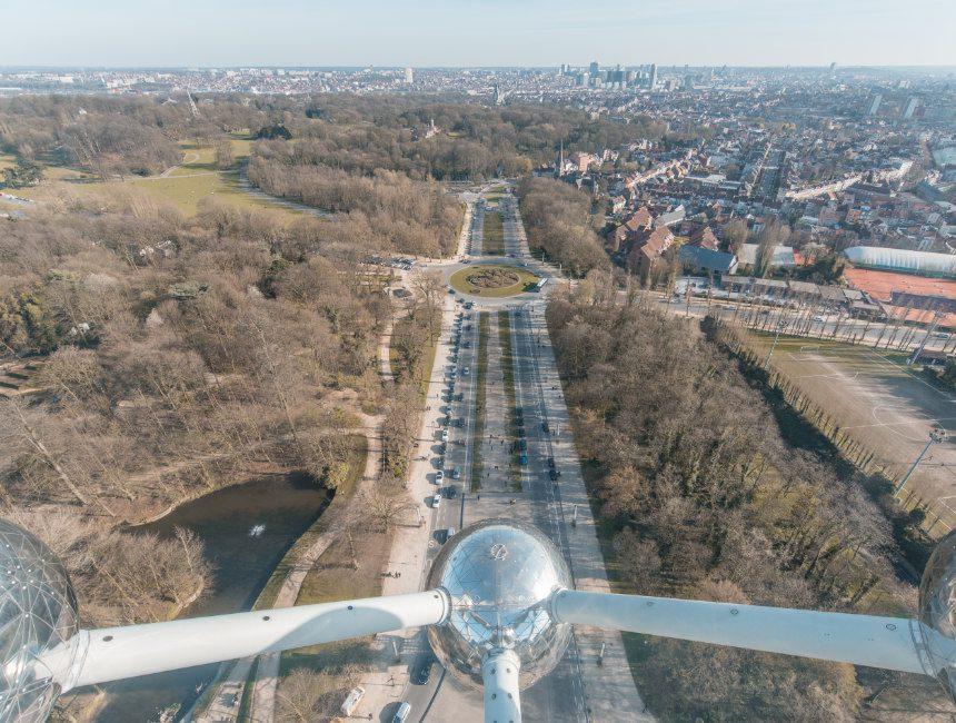 uitzicht Atomium Brussel bezienswaardigheden