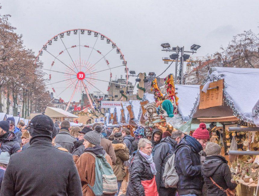 wat te doen in Brussel kerstmarkt