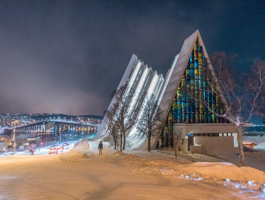 arctische kathedraal Tromso