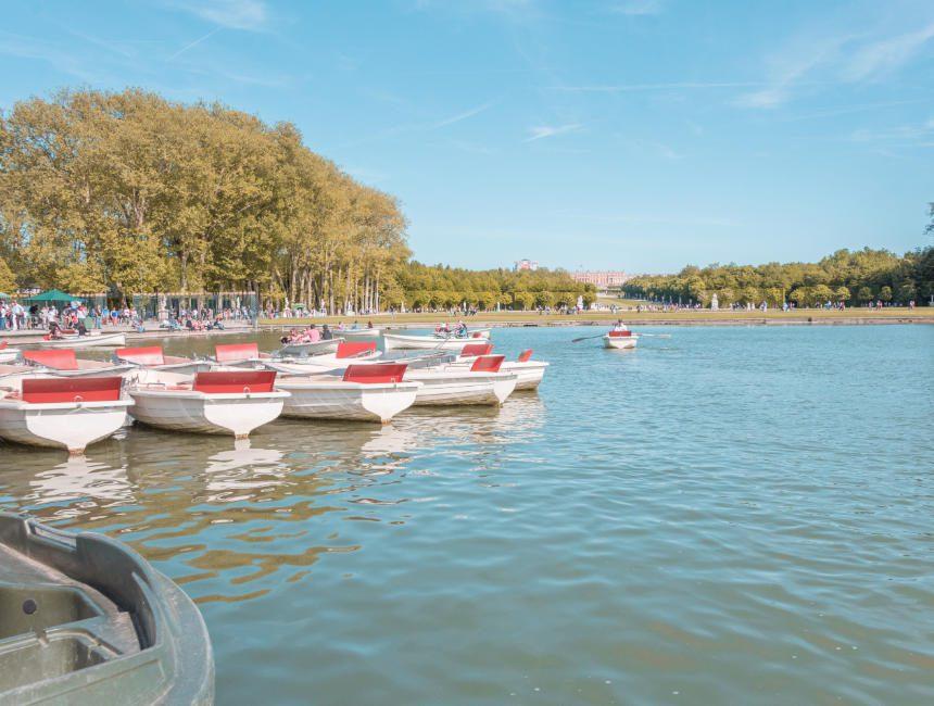 versailles bezoeken bootje varen