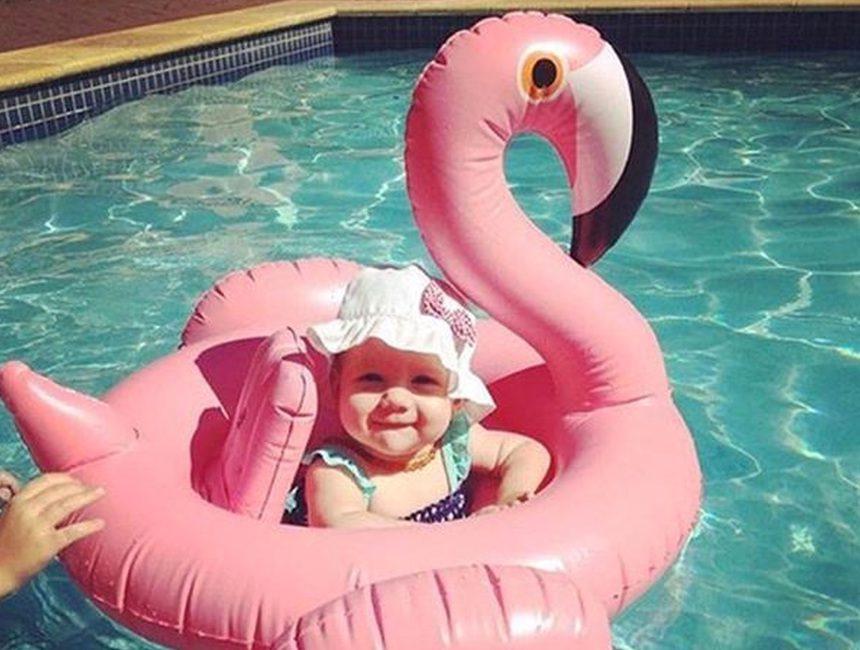 Flamingo zwemband baby