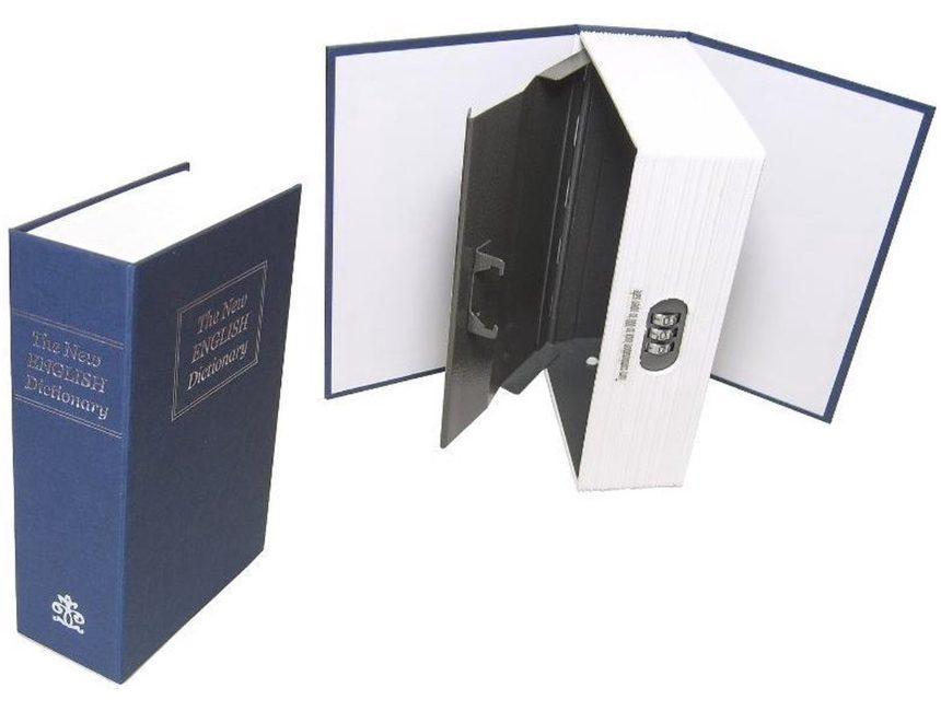 Kluisje voor paspoort in de vorm van een boek