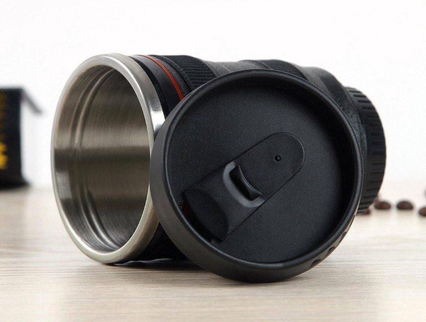 cadeau reisliefhebber Cameralens koffiebeker