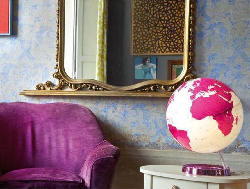 cadeaus voor reizigers Roze wereldbol
