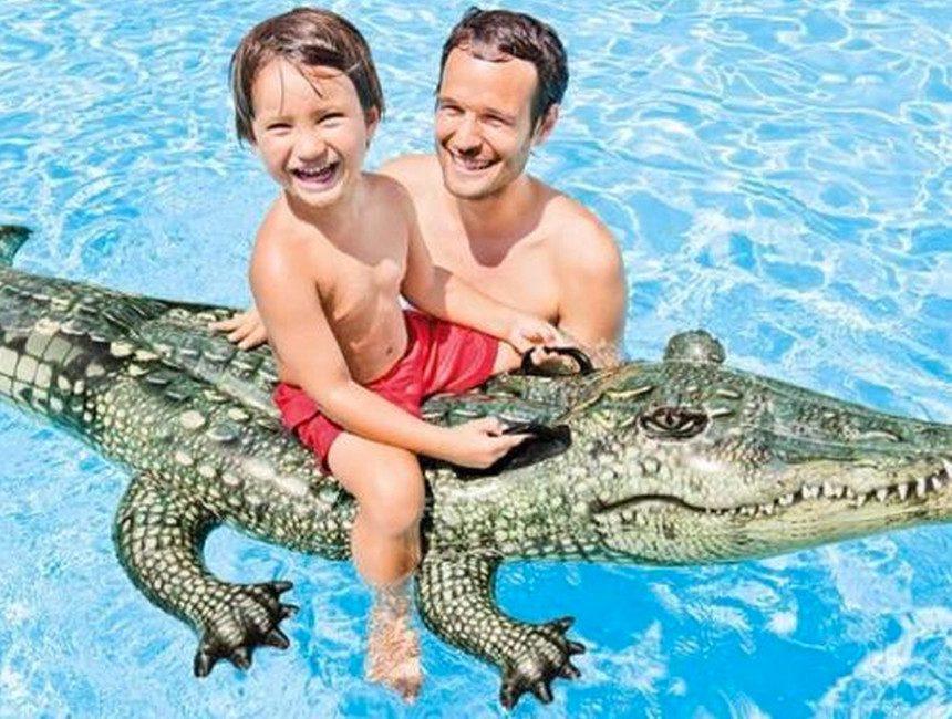 opblaasbare dieren zwembad alligator